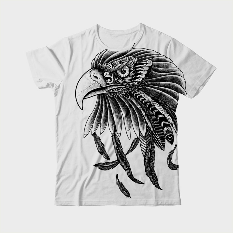 Eagle Ornate vector t shirt design