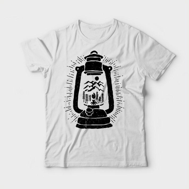 Lantern t shirt design png