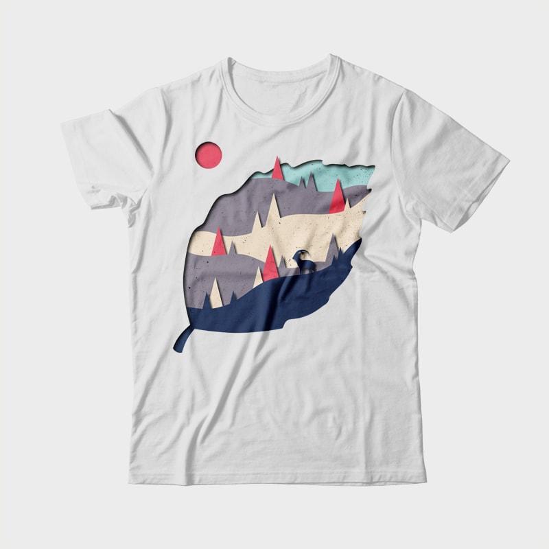 Leaf t shirt design graphic