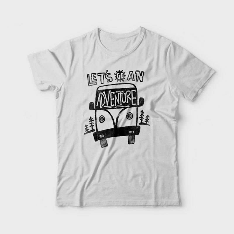 Let's go an Adventure t shirt design png