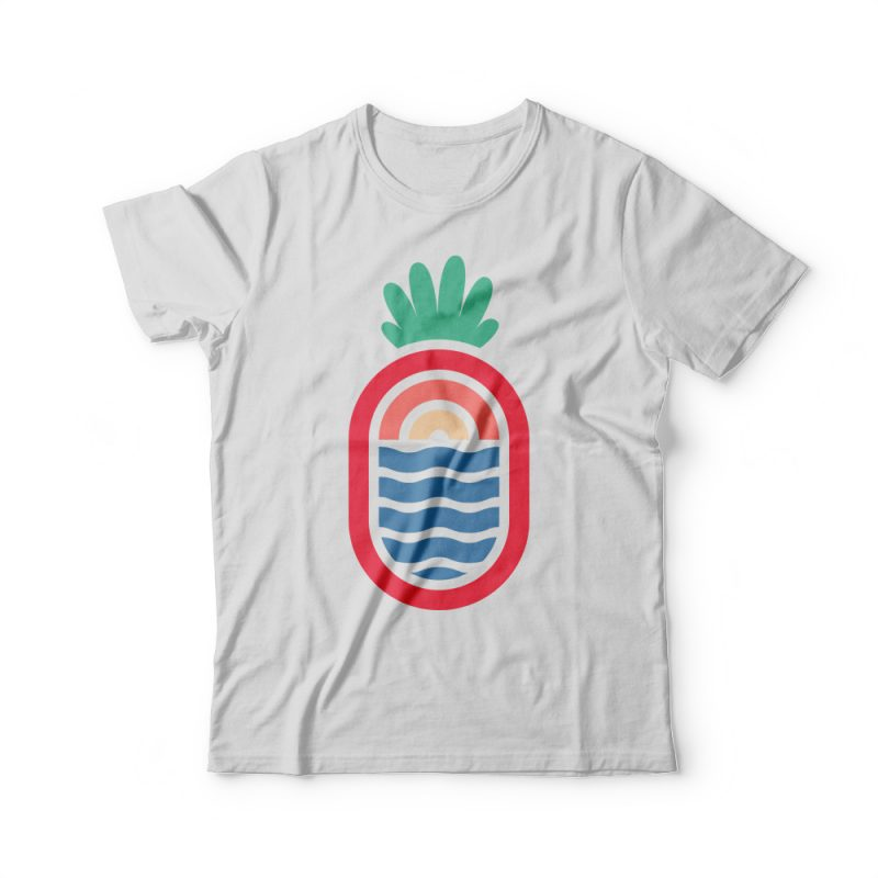 Lineapple t shirt designs for printful
