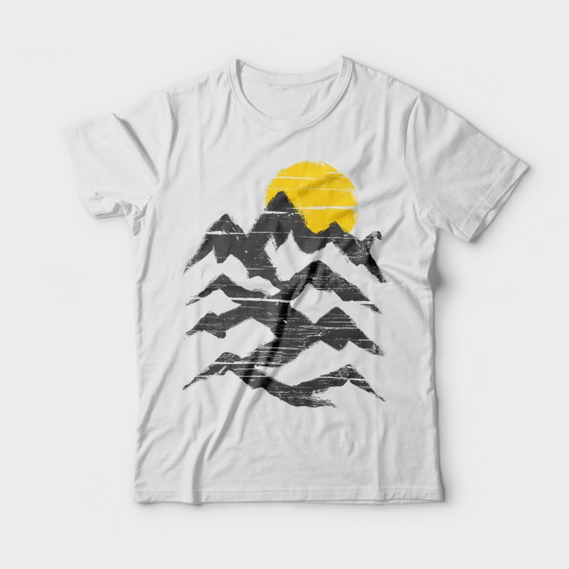 Mountain Ink commercial use t shirt designs