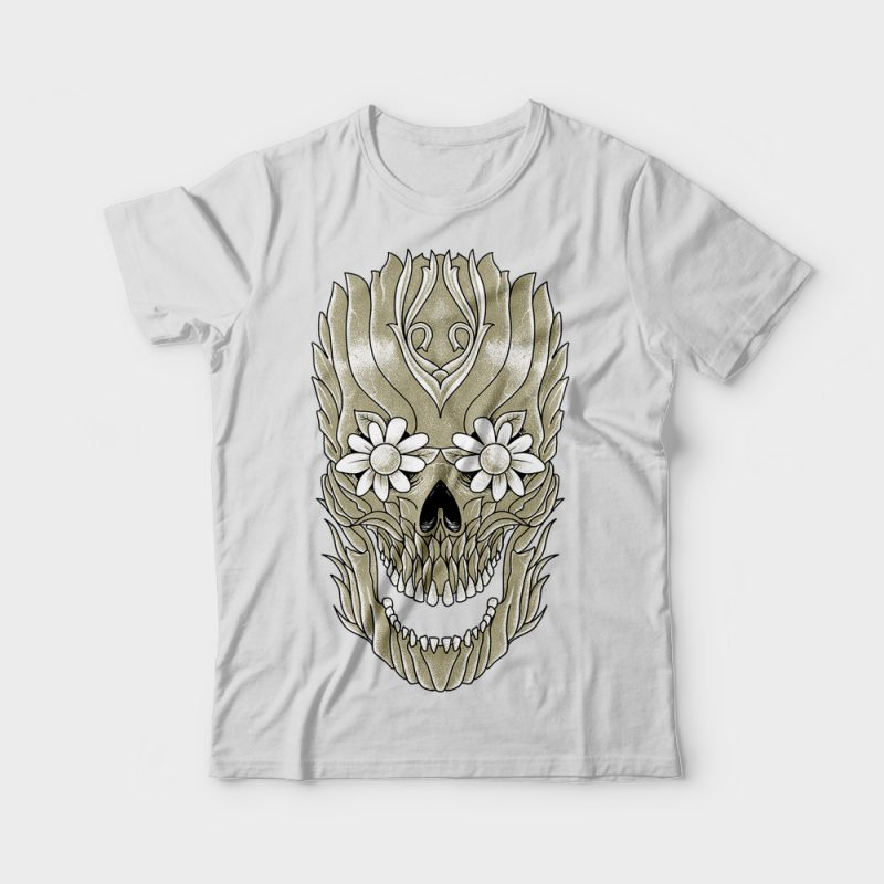 Skull Plants t-shirt designs for merch by amazon