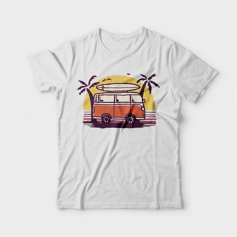 Sunset Van t shirt designs for teespring