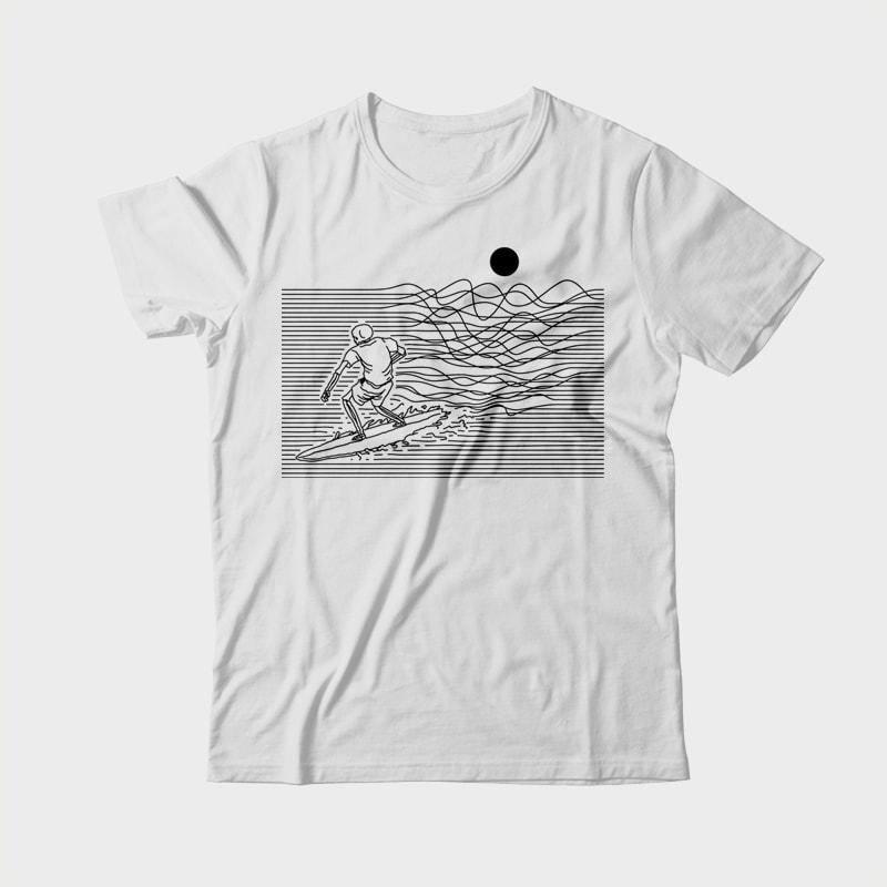 Surf Line buy t shirt design