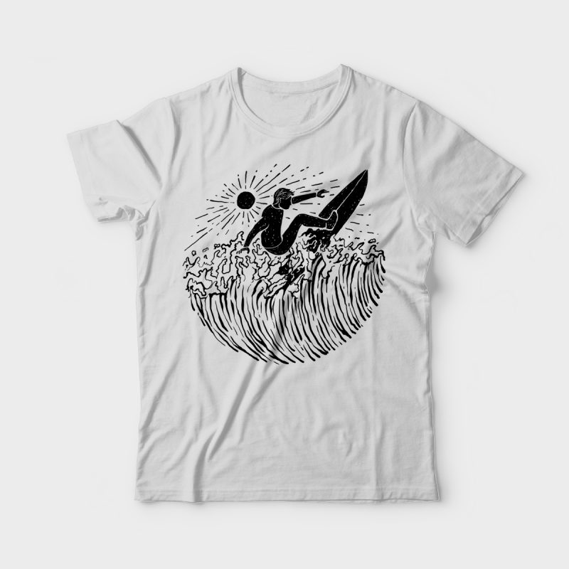 Surf and Shine tshirt design commercial use t shirt designs