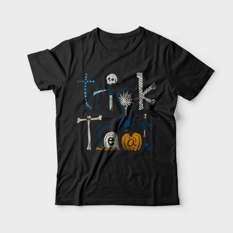 Trick or Treat t shirt design png