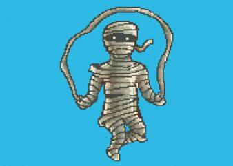 Mummy Workout tshirt design