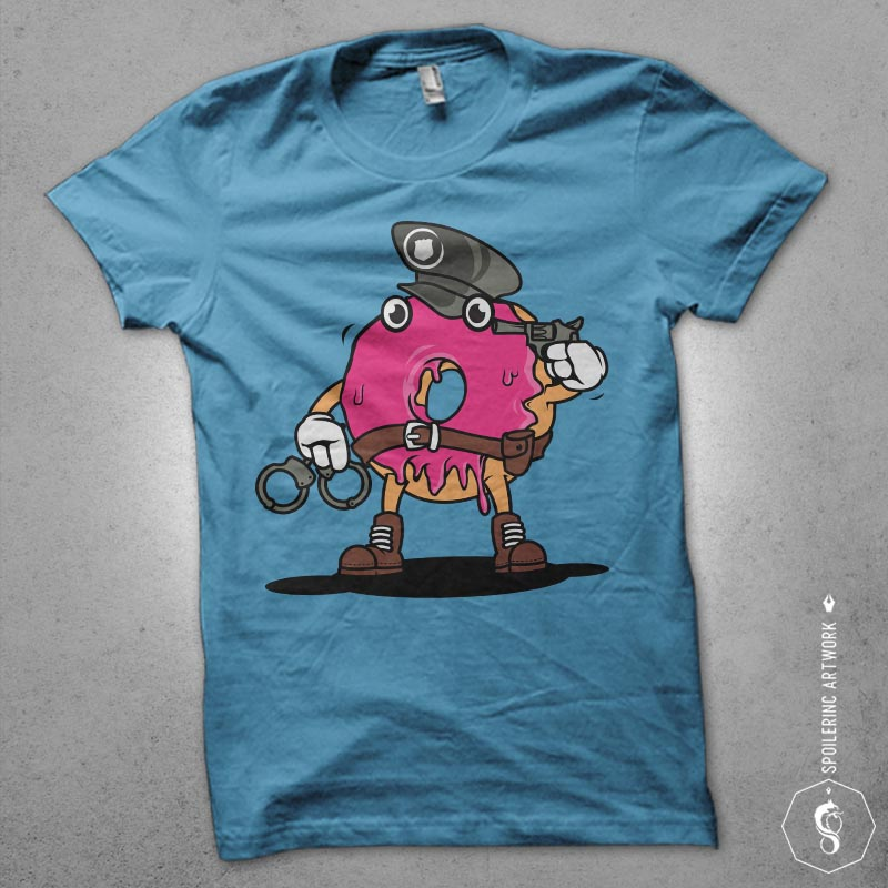 police donut t shirt designs for sale