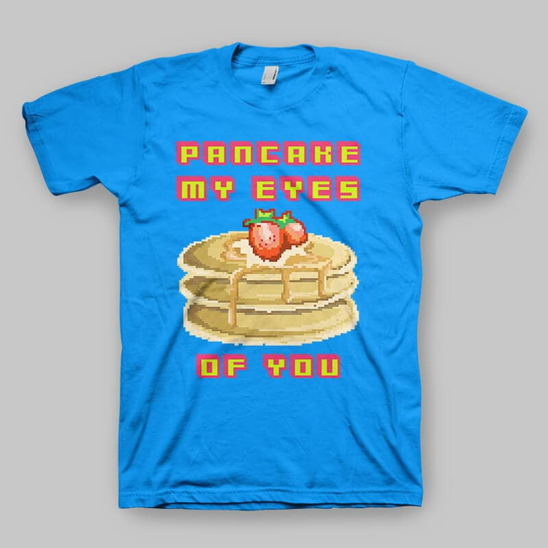 Pancake My Eyes Vector t-shirt design tshirt design for merch by amazon