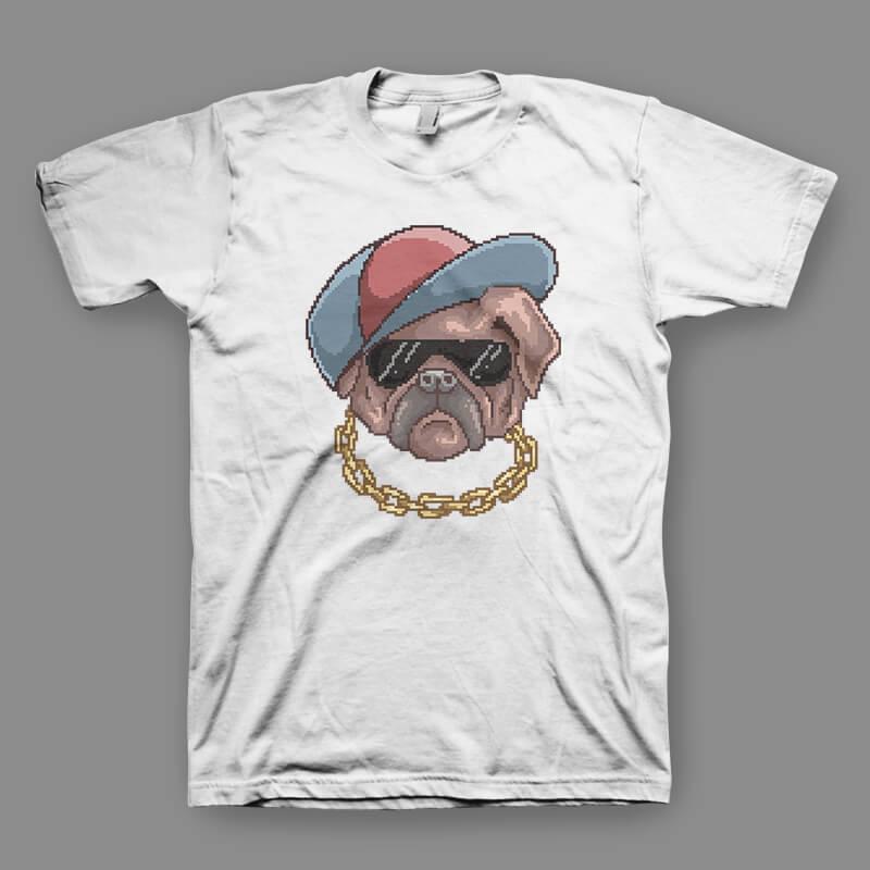 Pug Life tshirt design t shirt designs for print on demand