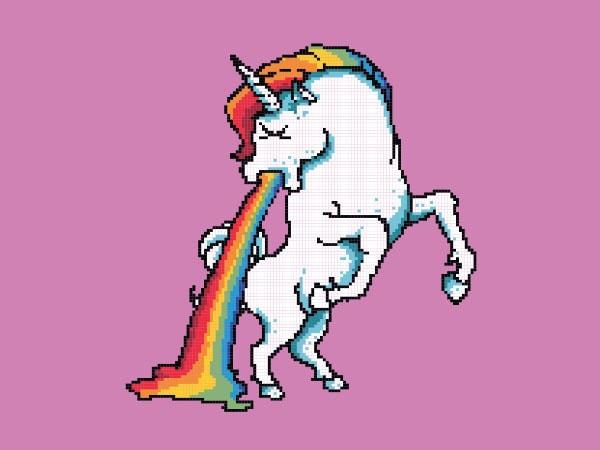 Puke Of The Unicorn tshirt design