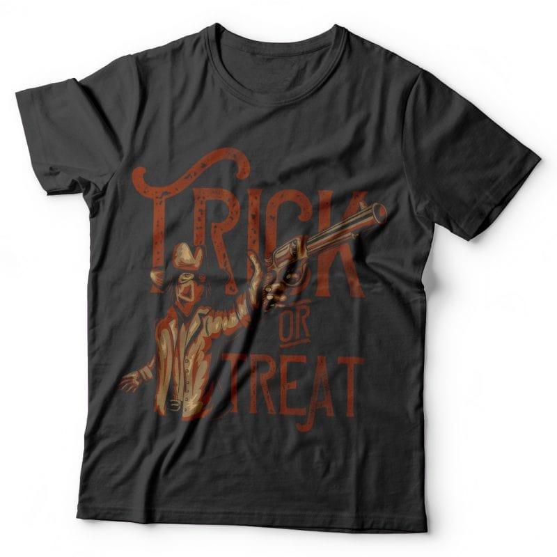 Trick or treat. Vector T-Shirt Design vector t shirt design