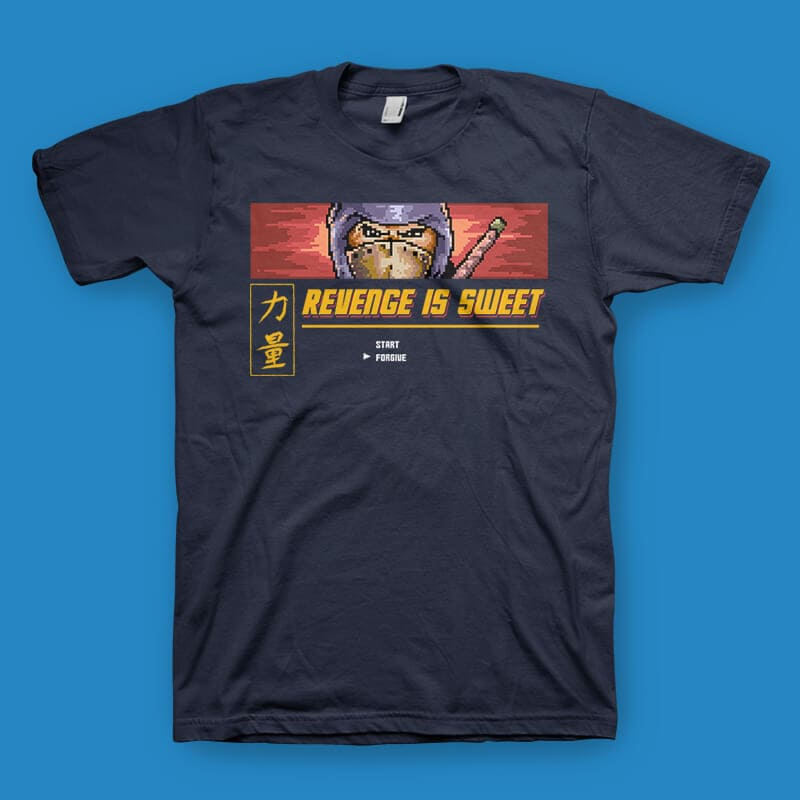 Revenge Is Sweet Vector t-shirt design t shirt designs for print on demand