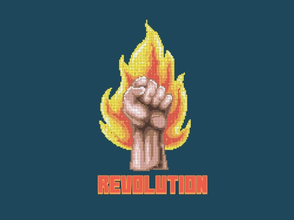 Revolution Vector t-shirt design