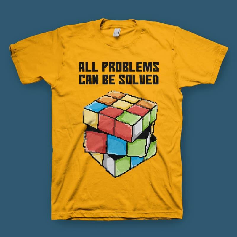 Rubik tshirt design t shirt designs for printify