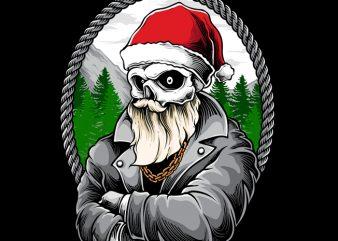 Santa Gangster design for t shirt