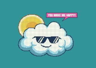 Summer Happy Cloud tshirt design