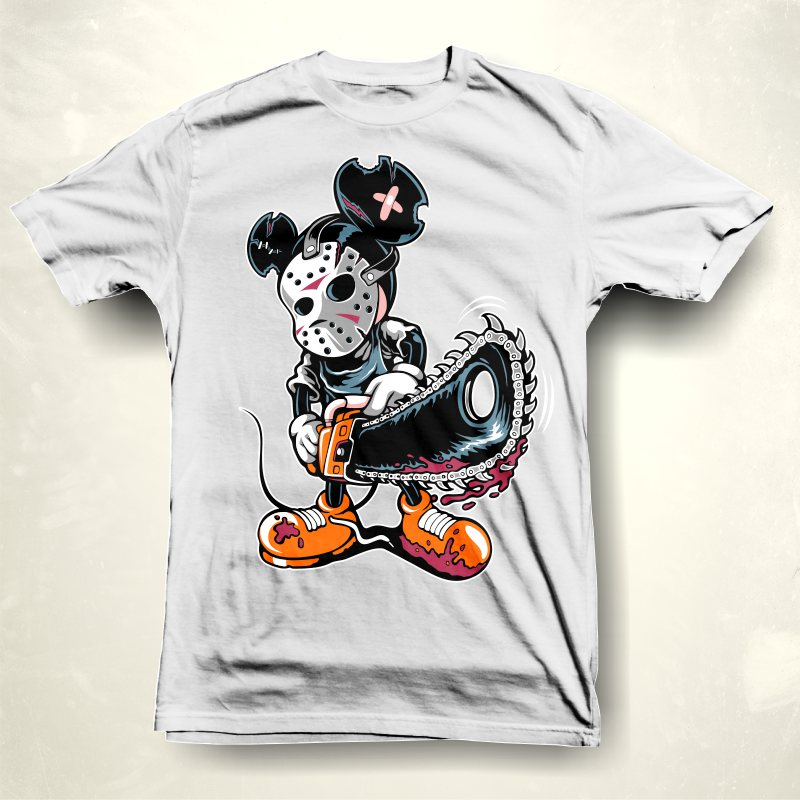 Micky Pshyco t shirt design graphic