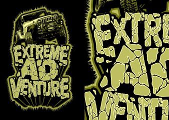 Extreme adventure vector t shirt design artwork