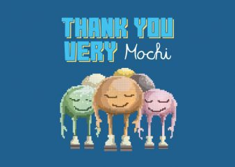 Thank You Very Mochi Vector t-shirt design