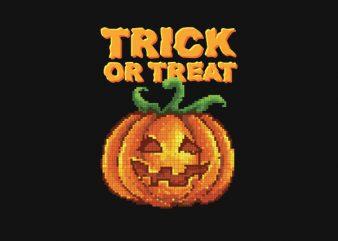 Trick Or Treat Jack O Lantern tshirt design