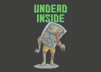 Undead Inside Vector t-shirt design