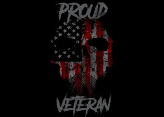 Proud Veteran tshirt design for sale