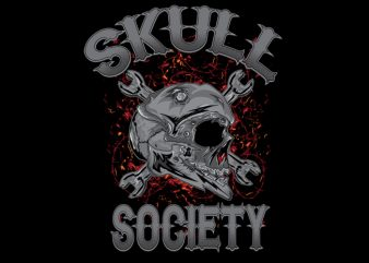 skull society vector t-shirt design