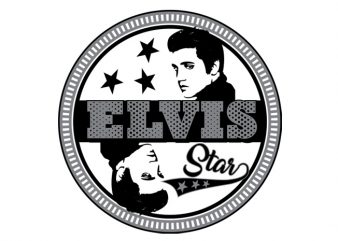 Elvis the King vector clipart