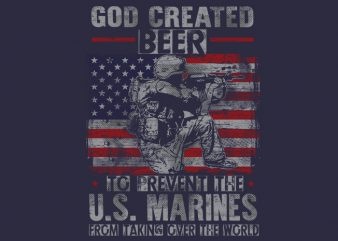 GOD CREATED BEER t shirt design for purchase
