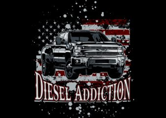 Diesel USA t shirt vector illustration