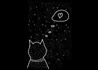 cat heart t shirt vector file