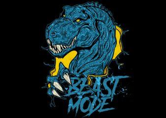 T-Rex Beast Mode t shirt designs for sale