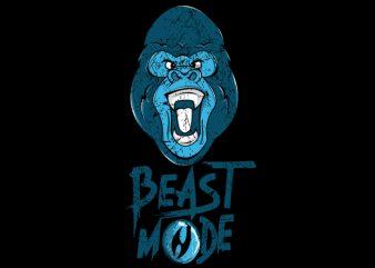 Gorilla Mode t shirt design template