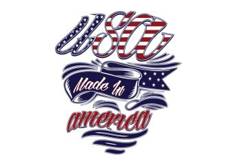 Made in America graphic t-shirt design