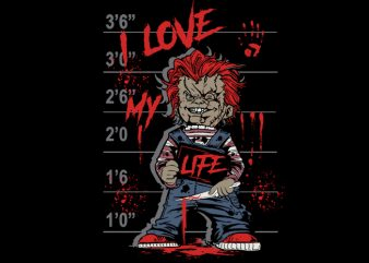 I love my life buy t shirt design for commercial use