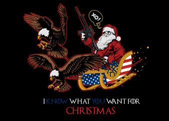 i know what you want for christmas tshirt design vector