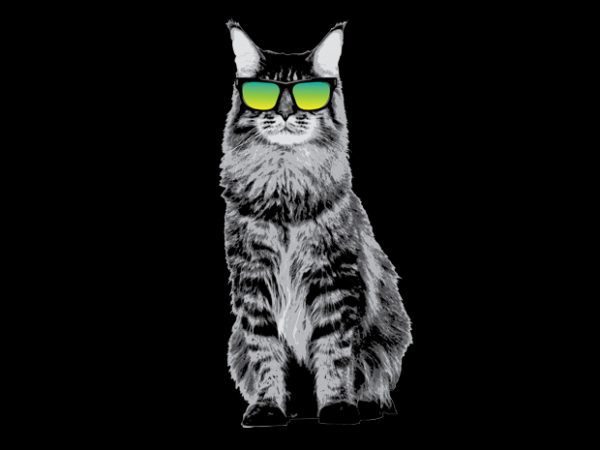Cat vector t-shirt design