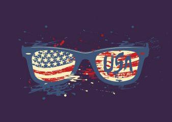 USA sunglasses t shirt design to buy