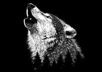 Wolf t shirt design png