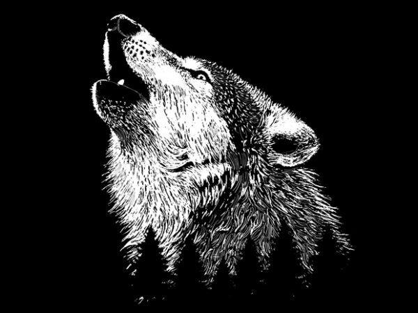 Wolf t shirt design png