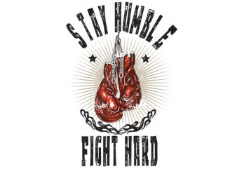Boxing vector t-shirt design for commercial use