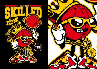 Basketball Character buy t shirt design