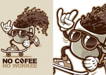 No Cofee No Workee t shirt design for sale