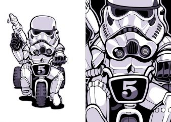 Little trooper t shirt vector graphic