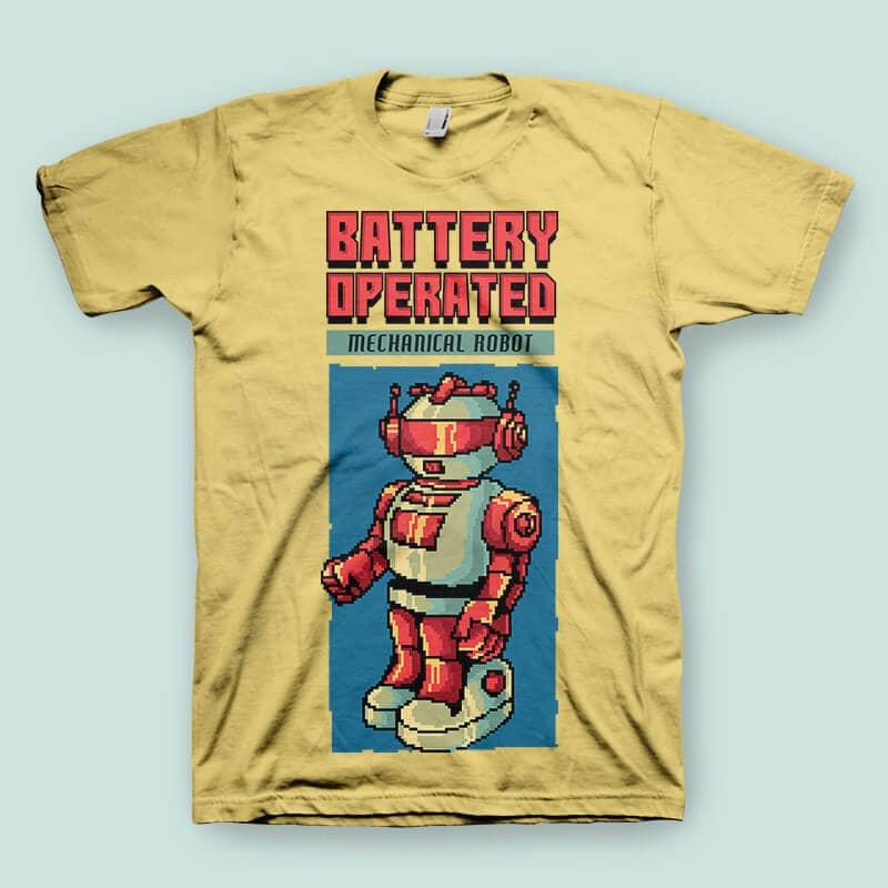 Vintage 80's Robot tshirt design tshirt factory