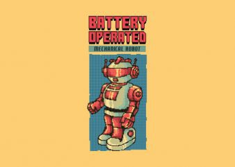 Vintage 80's Robot tshirt design