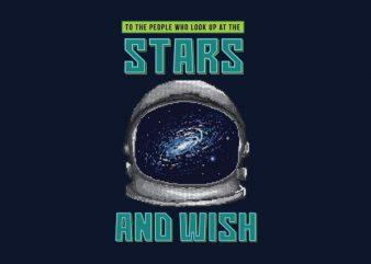 Wish Of The Stars Vector t-shirt design