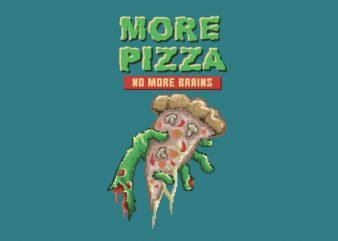 Zombie Pizza Vector t-shirt design
